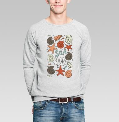 Принт на морскую тему - Купить мужские свитшоты с рыбой в Москве, цена мужских свитшотов с рыбой  с прикольными принтами - магазин дизайнерской одежды MaryJane