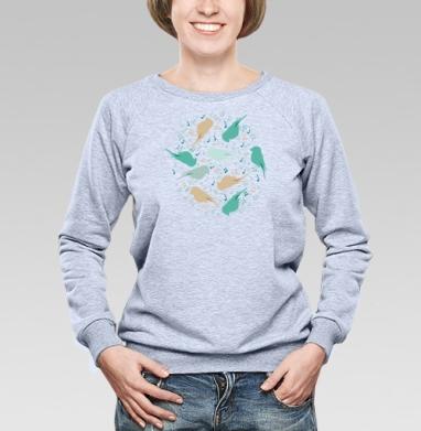 Музыка птиц - Купить детские свитшоты паттерн в Москве, цена детских свитшотов с паттерном  с прикольными принтами - магазин дизайнерской одежды MaryJane