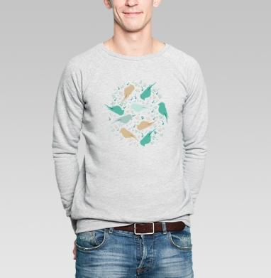 Музыка птиц - Купить мужские свитшоты паттерн в Москве, цена мужских  с паттерном  с прикольными принтами - магазин дизайнерской одежды MaryJane