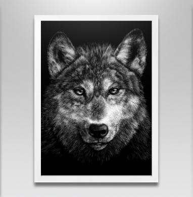 Волчище - Постер в белой раме