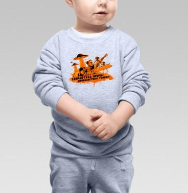 Чапаев против пришельцев  - Купить детские свитшоты АК-47 в Москве, цена детских свитшотов автомат Калашникова  с прикольными принтами - магазин дизайнерской одежды MaryJane