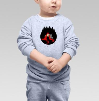 Cute red riding hood - Купить детские свитшоты с волками в Москве, цена детских свитшотов с волками  с прикольными принтами - магазин дизайнерской одежды MaryJane