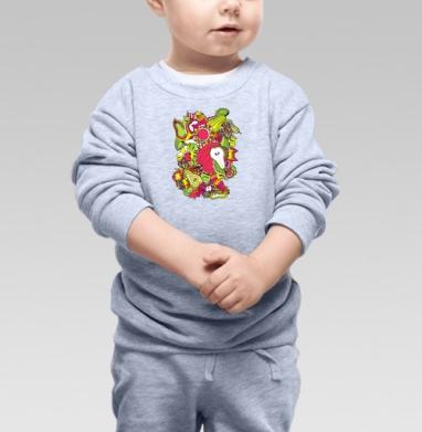 Фрукте кислотне - Купить детские свитшоты с фруктами в Москве, цена детских свитшотов с фруктами  с прикольными принтами - магазин дизайнерской одежды MaryJane