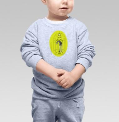 Cвитшот Детский серый меланж - Жираф и иллюзии