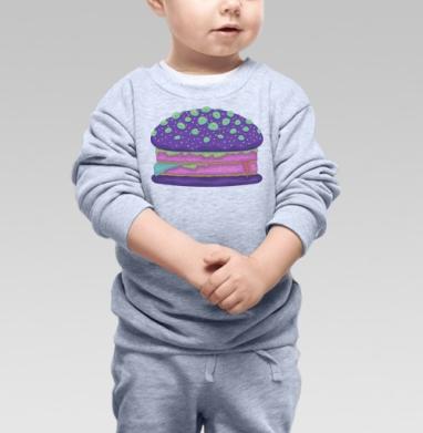 Cвитшот Детский серый меланж - Инопланетный бургер