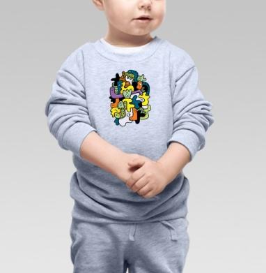 Клубящиеся мысли - Купить детские свитшоты абстрактные в Москве, цена детских свитшотов абстрактных  с прикольными принтами - магазин дизайнерской одежды MaryJane