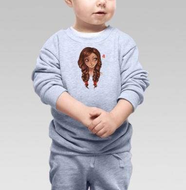 Романтичная девушка - Купить детские свитшоты нежность в Москве, цена детских свитшотов нежность  с прикольными принтами - магазин дизайнерской одежды MaryJane