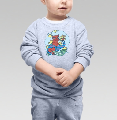 Волчик - Купить детские свитшоты романтика в Москве, цена детских свитшотов романтических  с прикольными принтами - магазин дизайнерской одежды MaryJane