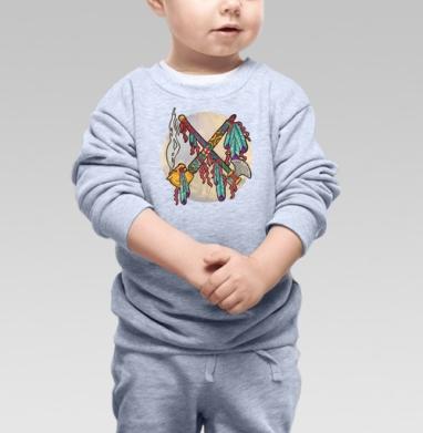 Война и Мир на индейский лад - Купить детские свитшоты АК-47 в Москве, цена детских свитшотов автомат Калашникова  с прикольными принтами - магазин дизайнерской одежды MaryJane