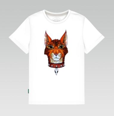 Детская футболка белая 160гр - Кот предводитель