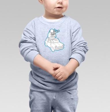 Мини Танк, Cвитшот Детский серый меланж
