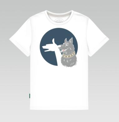 Детская футболка белая 160гр - Shadow