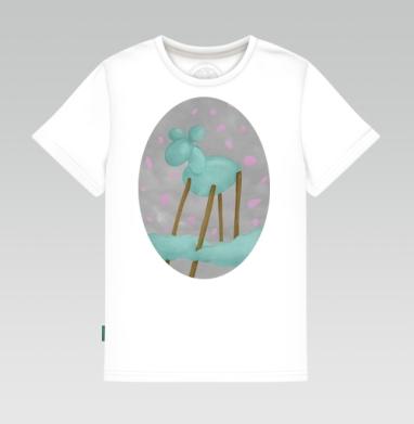 Детская футболка белая 160гр - SKY