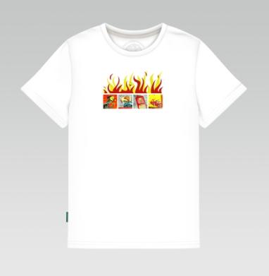 Детская футболка белая 160гр - SMS
