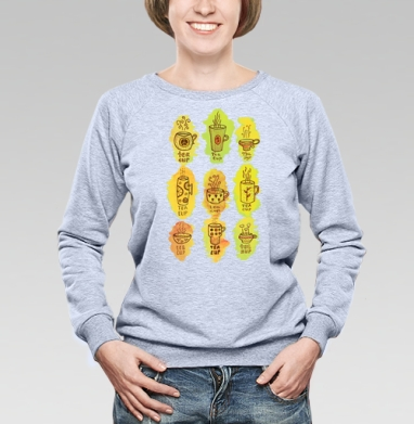Чашки чая  - Купить детские свитшоты паттерн в Москве, цена детских свитшотов с паттерном  с прикольными принтами - магазин дизайнерской одежды MaryJane