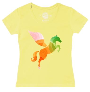 Футболка женская желтая - Летать