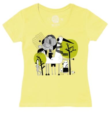 Футболка женская желтая - Прогулка