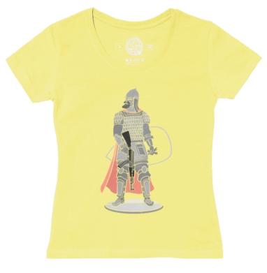 Футболка женская желтая - Богатырь