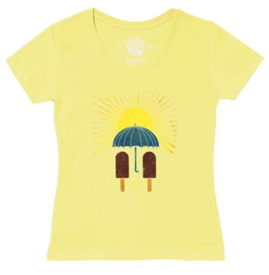 Футболка женская желтая - Сладкая любовь