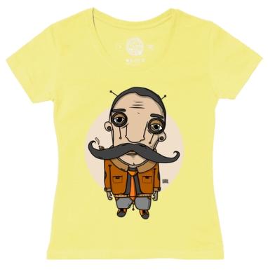 Футболка женская желтая - Усач2