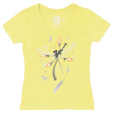 Футболка женская желтая - Воздушный бой
