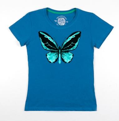 Футболка женская волна 200гр - Neon Butterfly
