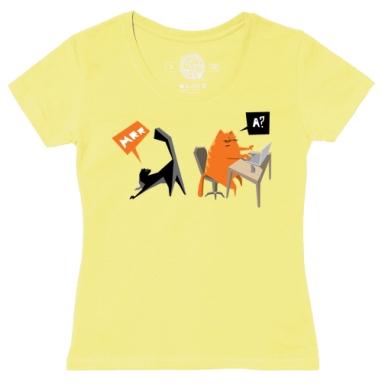 Футболка женская желтая - Red Cat