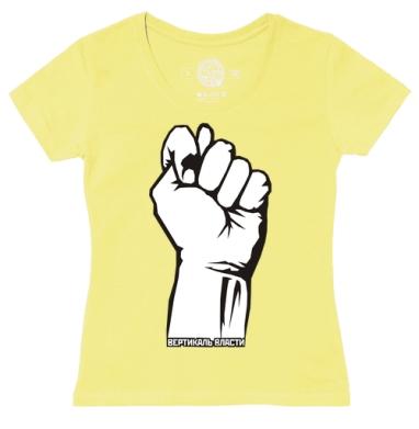 Футболка женская желтая - Вертикаль власти