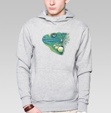 Iguana - Толстовка серая с капюшоном, цвет