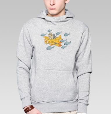 Мэт и Шитцу на охоте - Купить мужские толстовки Ниндзя в Москве, цена мужских  Ниндзя  с прикольными принтами - магазин дизайнерской одежды MaryJane