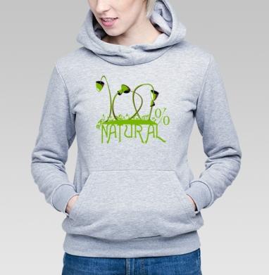 100% NATURAL - Купить детские толстовки с грибами в Москве, цена детских толстовок с грибами с прикольными принтами - магазин дизайнерской одежды MaryJane