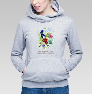 Анфиса и медузы - Толстовка Женская серый меланж 340гр, теплый, Магазин футболок anfisa, Новинки