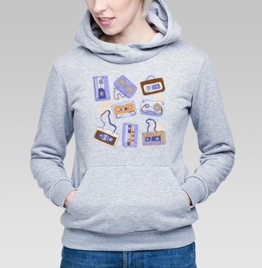Аудио кассеты - Купить детские толстовки ретро в Москве, цена детских толстовок ретро  с прикольными принтами - магазин дизайнерской одежды MaryJane