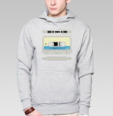 Толстовка мужская, накладной карман серый меланж - Audiomagnetism