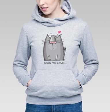 Born to LOVE - Купить детские толстовки с кошками в Москве, цена детских толстовок с кошками  с прикольными принтами - магазин дизайнерской одежды MaryJane