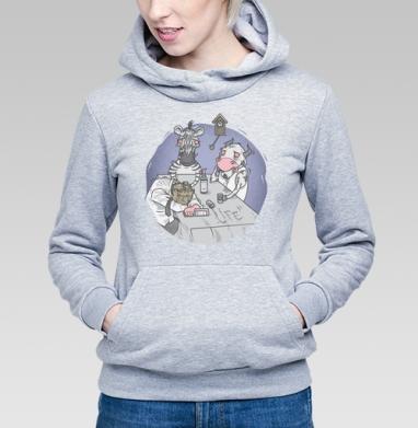 Чёрно-Белая Жизнь - Купить детские толстовки серые в Москве, цена детских толстовок серых с прикольными принтами - магазин дизайнерской одежды MaryJane