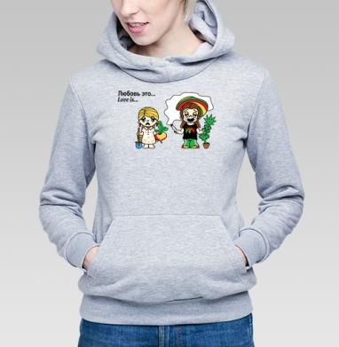 Футболки Love is...№6 - Купить детские толстовки с дымом в Москве, цена детских толстовок с дымом  с прикольными принтами - магазин дизайнерской одежды MaryJane