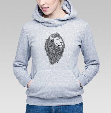 Грива - Купить детские толстовки с животными в Москве, цена детских толстовок с животными  с прикольными принтами - магазин дизайнерской одежды MaryJane