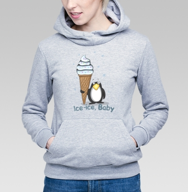 Ice-ice, baby - Купить детские толстовки с птицами в Москве, цена детских толстовок с птицами  с прикольными принтами - магазин дизайнерской одежды MaryJane
