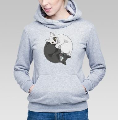 Кошачий инь-янь - Купить детские толстовки с символами в Москве, цена детских толстовок с символом с прикольными принтами - магазин дизайнерской одежды MaryJane