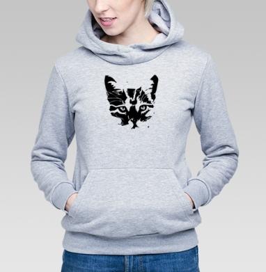 Толстовка Женская серый меланж 340гр, теплая - коТень