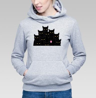 Котики detected - Купить детские толстовки со смайлами в Москве, цена детских толстовок со смайлами с прикольными принтами - магазин дизайнерской одежды MaryJane