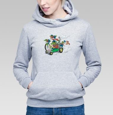 Крокодилы на прогулке - Купить детские толстовки с велосипедом в Москве, цена детских толстовок с велосипедом  с прикольными принтами - магазин дизайнерской одежды MaryJane