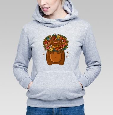 Медведь в цветах - Купить детские толстовки для влюбленных в Москве, цена детских  дли влюбленных  с прикольными принтами - магазин дизайнерской одежды MaryJane
