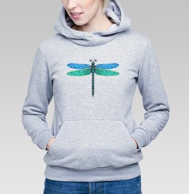 Мозаичная стрекоза - Купить детские толстовки с насекомыми в Москве, цена детских толстовок с насекомыми  с прикольными принтами - магазин дизайнерской одежды MaryJane