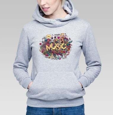 Музыка - Купить детские толстовки с нотами в Москве, цена детских толстовок с нотами  с прикольными принтами - магазин дизайнерской одежды MaryJane