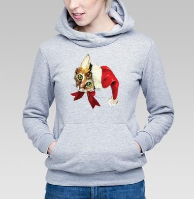 Новогодний котенок  - Купить детские толстовки с подарком в Москве, цена детских толстовок с подарками  с прикольными принтами - магазин дизайнерской одежды MaryJane