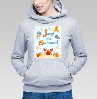 Прыжок в лето - Купить детские толстовки с рыбой в Москве, цена детских толстовок с рыбой  с прикольными принтами - магазин дизайнерской одежды MaryJane