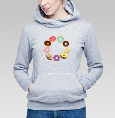 Сладкий пончик - Купить детские толстовки сладости в Москве, цена детских толстовок со сладостями  с прикольными принтами - магазин дизайнерской одежды MaryJane