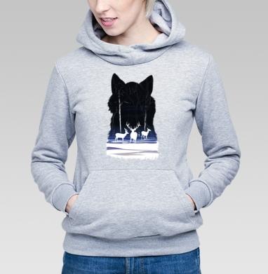 Снежные олешки - Купить детские толстовки с волками в Москве, цена детских толстовок с волками  с прикольными принтами - магазин дизайнерской одежды MaryJane